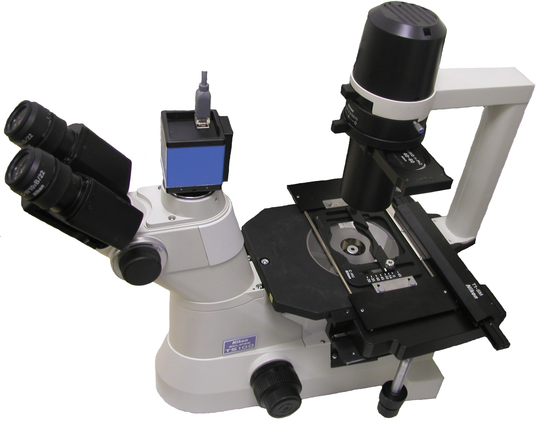 nikon eclipse ts100 f led ceitec cz rh biophotonics ceitec cz Inverted Microscope with Camera Nikon Microscope